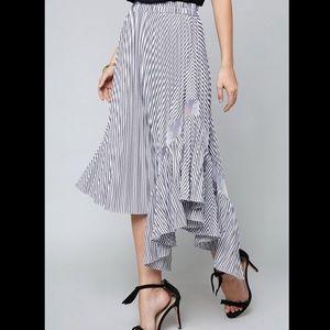 {Bebe} Asymmetrical Striped Skirt Size XS
